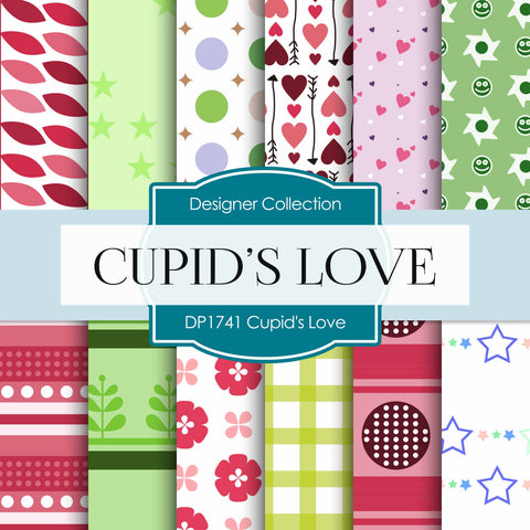 Cupid's Love Digital Paper DP1741 - Digital Paper Shop - 1