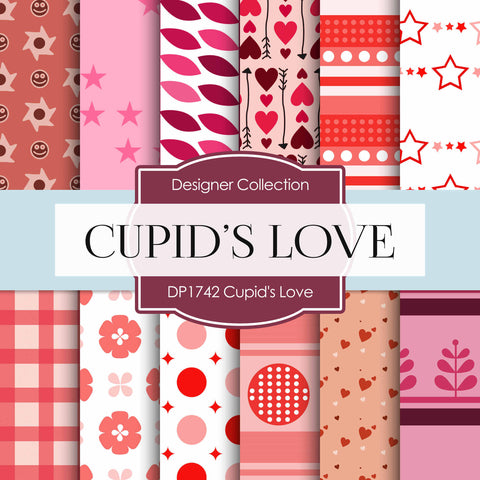 Cupid's Love Digital Paper DP1742 - Digital Paper Shop - 1