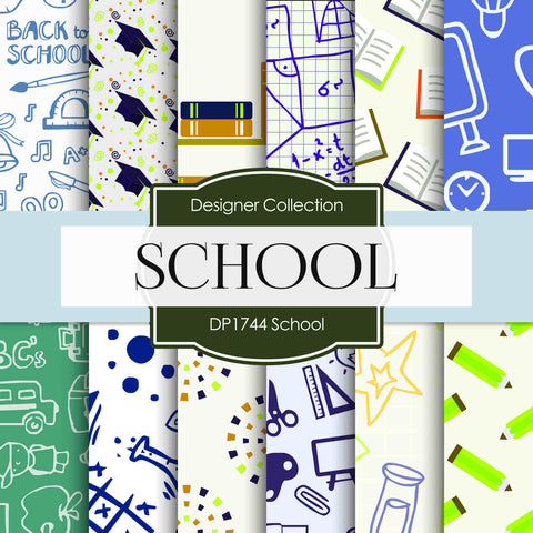School Digital Paper DP1744 - Digital Paper Shop - 1