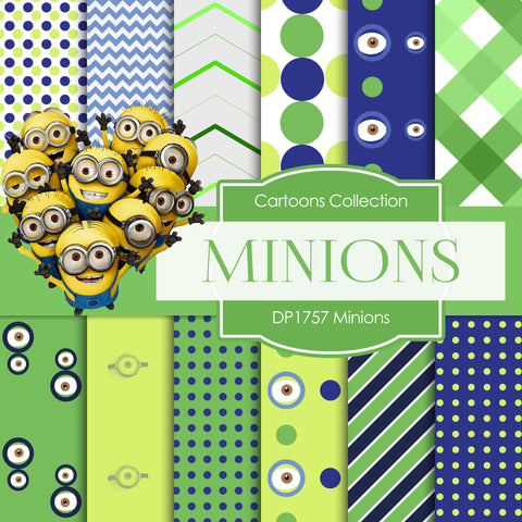 Minions Digital Paper DP1757 - Digital Paper Shop - 1
