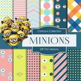 Minions Digital Paper DP1761 - Digital Paper Shop - 1