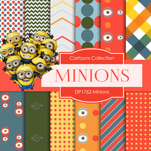Minions Digital Paper DP1762 - Digital Paper Shop - 1