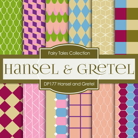 Hansel & Gretel Digital Paper DP177 - Digital Paper Shop - 1