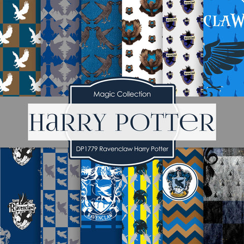 Ravenclaw Harry Potter Digital Paper DP1779 - Digital Paper Shop - 1