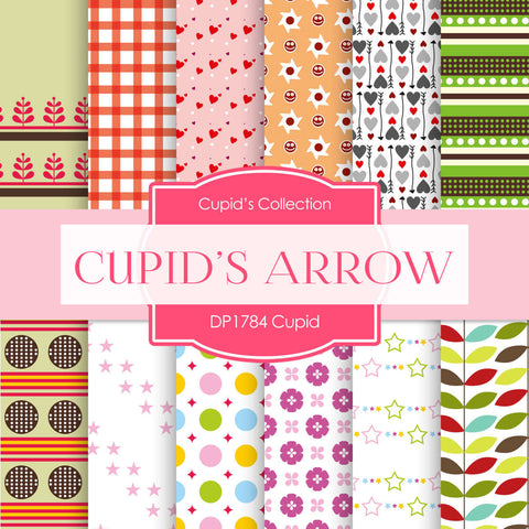 Cupid's Arrow Digital Paper DP1784 - Digital Paper Shop - 1