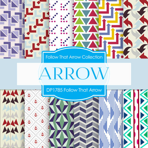 Follow That Arrow Digital Paper DP1785 - Digital Paper Shop - 1