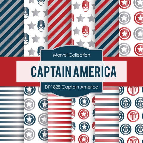 Captain America Digital Paper DP1828