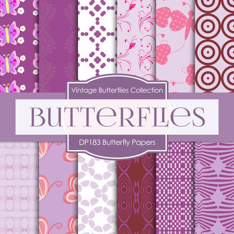 Butterfly Digital Paper DP183 - Digital Paper Shop - 1