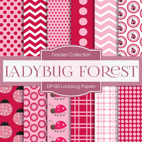 Ladybug Digital Paper DP185 - Digital Paper Shop - 1