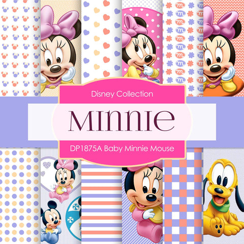 Baby Minnie Mouse Digital Paper DP1875A - Digital Paper Shop - 1