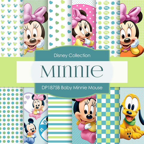 Baby Minnie Mouse Digital Paper DP1875B - Digital Paper Shop - 1