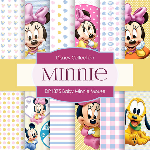 Baby Minnie Mouse Digital Paper DP1875 - Digital Paper Shop - 1