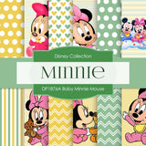 Baby Minnie Mouse Digital Paper DP1876A - Digital Paper Shop - 1