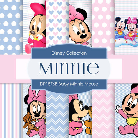 Baby Minnie Mouse Digital Paper DP1876B - Digital Paper Shop - 1