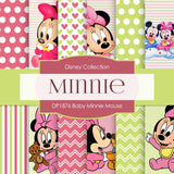 Baby Minnie Mouse Digital Paper DP1876 - Digital Paper Shop - 1