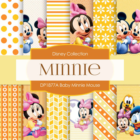 Baby Minnie Mouse Digital Paper DP1877A - Digital Paper Shop - 1