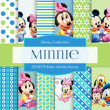 Baby Minnie Mouse Digital Paper DP1877B - Digital Paper Shop - 1