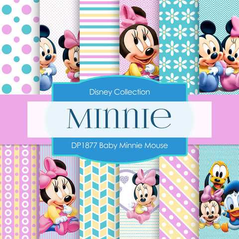 Baby Minnie Mouse Digital Paper DP1877 - Digital Paper Shop - 1