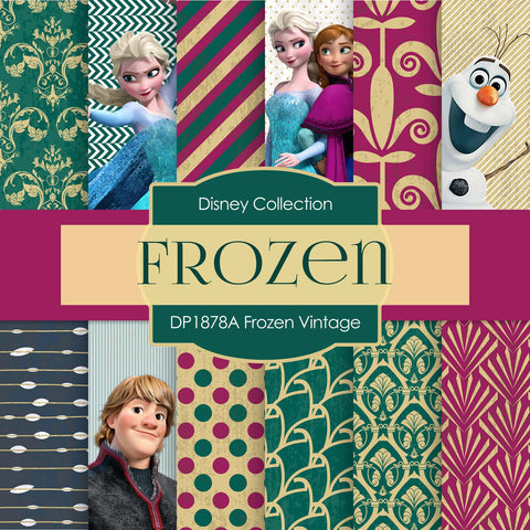 Frozen Vintage Digital Paper DP1878A - Digital Paper Shop - 1