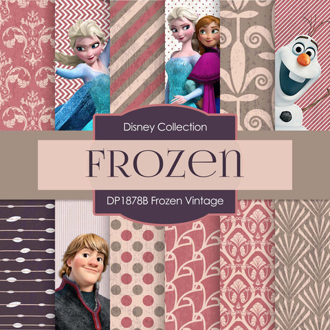Frozen Vintage Digital Paper DP1878B - Digital Paper Shop - 1