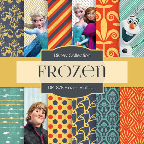 Frozen Vintage Digital Paper DP1878 - Digital Paper Shop - 1