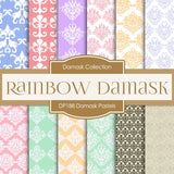 Damask Pastels Digital Paper DP188 - Digital Paper Shop - 1