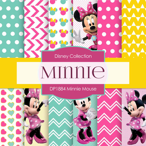Minnie Mouse Digital Paper DP1884 - Digital Paper Shop - 1