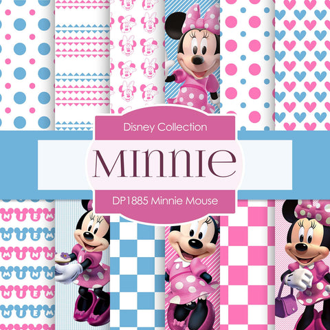 Minnie Mouse Digital Paper DP1885 - Digital Paper Shop - 1