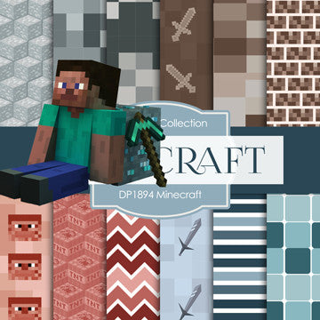 Minecraft Digital Paper DP1894 - Digital Paper Shop - 1
