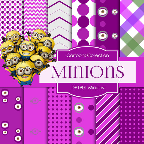Minions Digital Paper DP1901 - Digital Paper Shop - 1