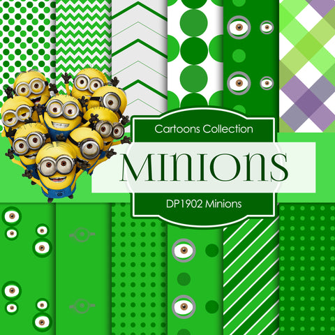 Minions Digital Paper DP1902 - Digital Paper Shop - 1