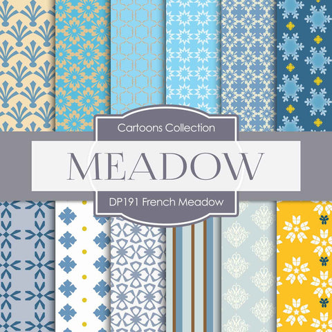 French Meadow Digital Paper DP191 - Digital Paper Shop - 1