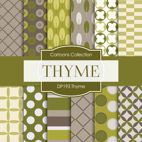 Thyme Digital Paper DP193 - Digital Paper Shop - 1