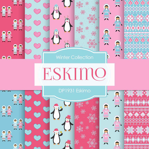 Eskimo Digital Paper DP1931 - Digital Paper Shop - 1