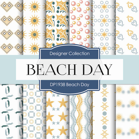 Beach Day Digital Paper DP1938 - Digital Paper Shop - 1
