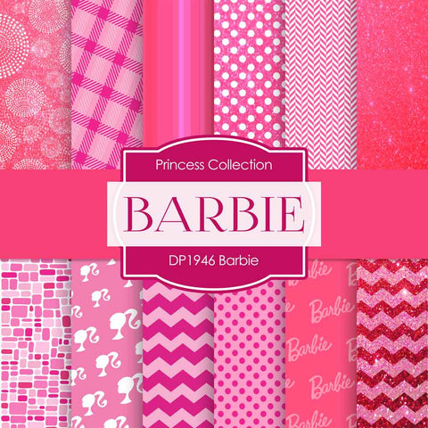Barbie Digital Paper DP1946A - Digital Paper Shop - 1