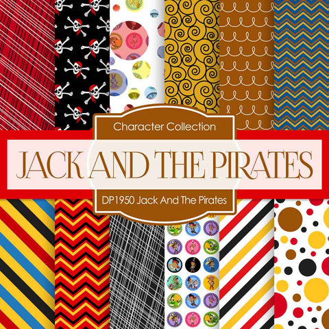 Jack And The Pirates Digital Paper DP1950 - Digital Paper Shop