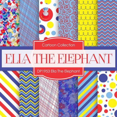 Ella The Elephant Digital Paper DP1953 - Digital Paper Shop - 1