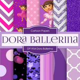Dora Ballerina Digital Paper DP1954 - Digital Paper Shop - 1