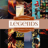 League of Legends Digital Paper DP1958 - Digital Paper Shop - 1