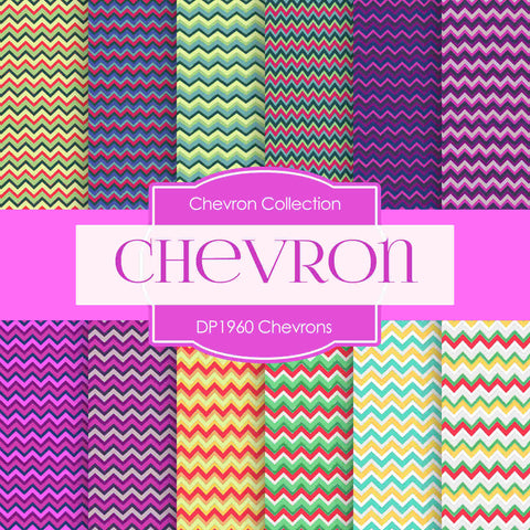 Chevrons Digital Paper DP1960 - Digital Paper Shop - 1