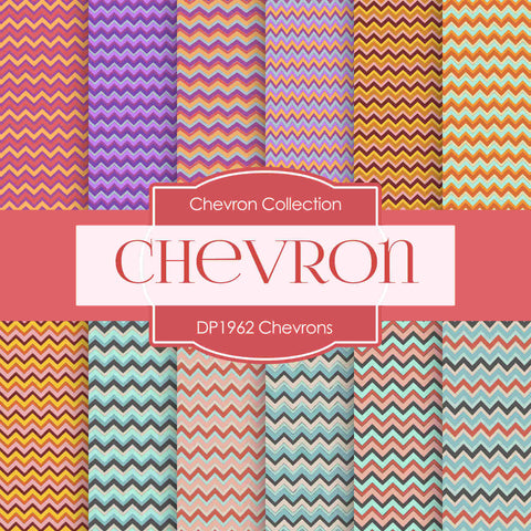 Chevrons Digital Paper DP1962 - Digital Paper Shop - 1