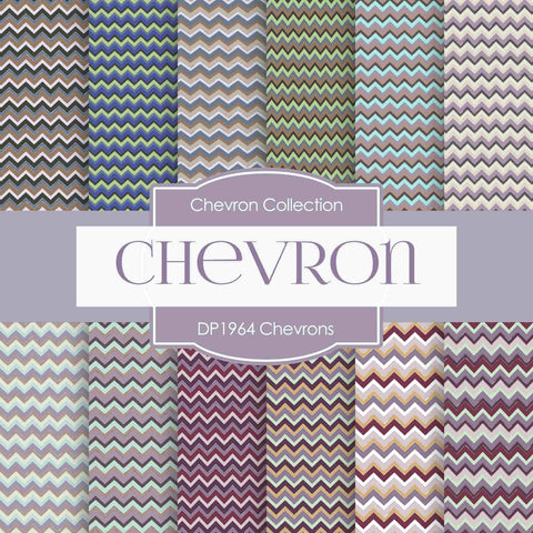 Chevrons Digital Paper DP1964 - Digital Paper Shop - 1