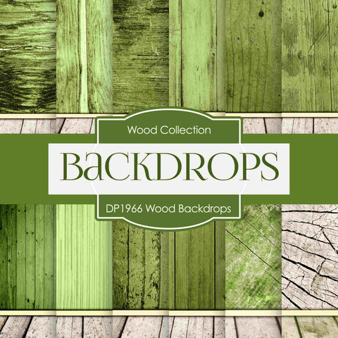 Wood Backdrops Digital Paper DP1966 - Digital Paper Shop - 1