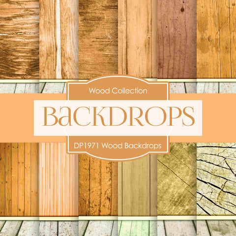 Wood Backdrops Digital Paper DP1971 - Digital Paper Shop - 1