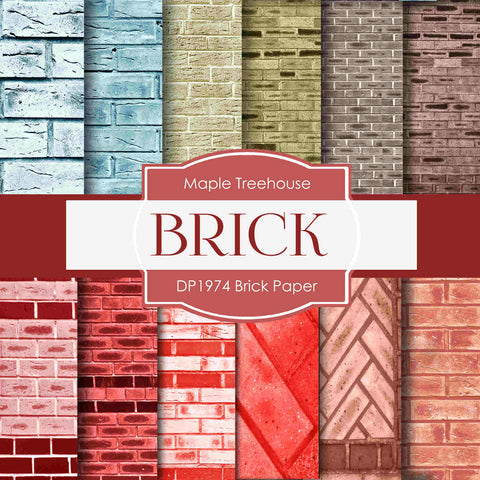 Brick Paper Digital Paper DP1974 - Digital Paper Shop - 1
