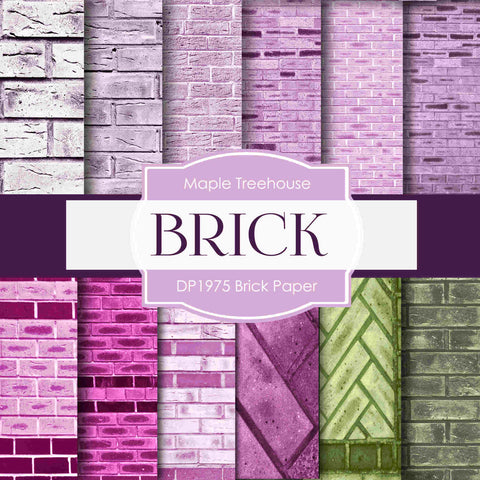 Brick Paper Digital Paper DP1975 - Digital Paper Shop - 1