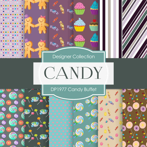 Candy Buffet Digital Paper DP1977 - Digital Paper Shop - 1