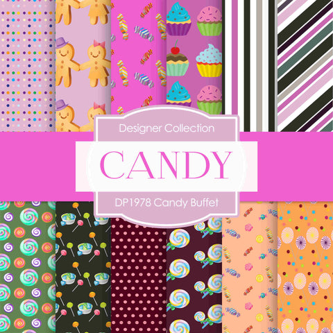 Candy Buffet Digital Paper DP1978 - Digital Paper Shop - 1