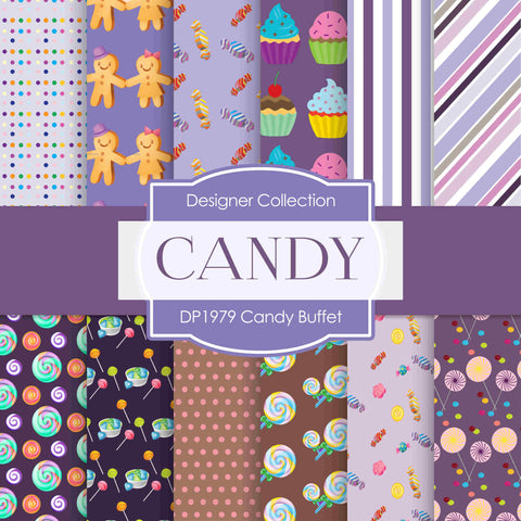 Candy Buffet Digital Paper DP1979 - Digital Paper Shop - 1